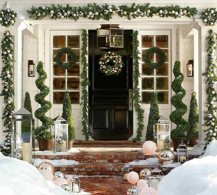 espíritu navideño decoracon exterior original
