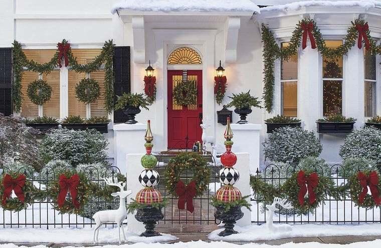 espíritu navideño hermoso exterior
