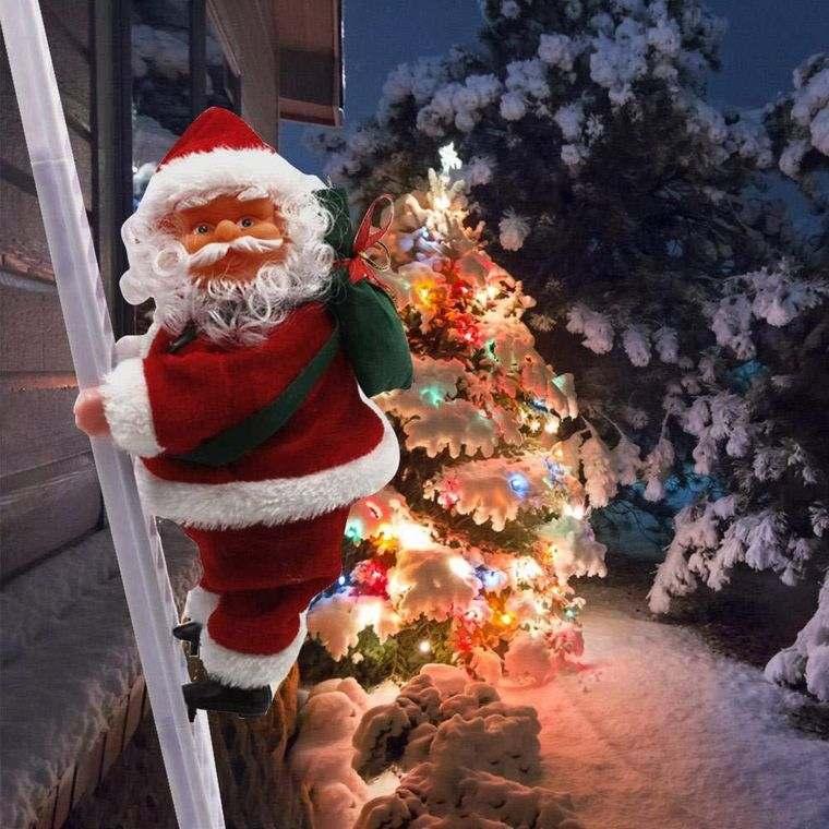 espíritu navideño santa exterior
