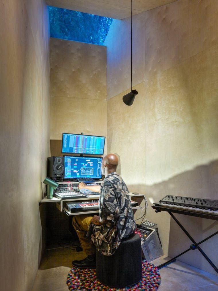 estudio de música iluminacion