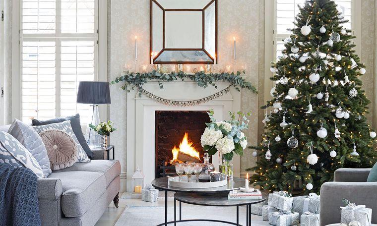 ideas para decorar arbol adornos blancos