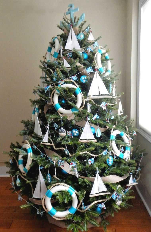 ideas para decorar arbol inspiracion nautica