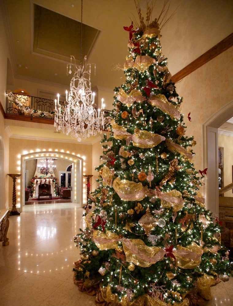 ideas para decorar arbol navideño elegante
