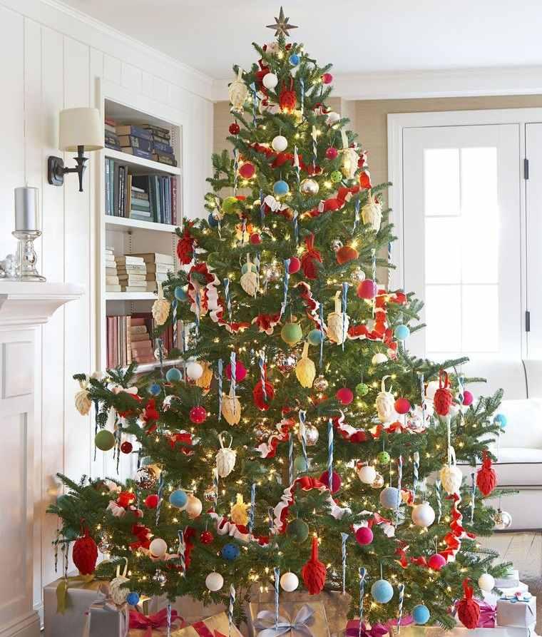 ideas para decorar arbol navideño llamativo