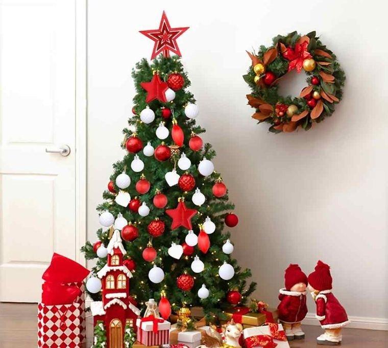 ideas para decorar arbol rojo blanco
