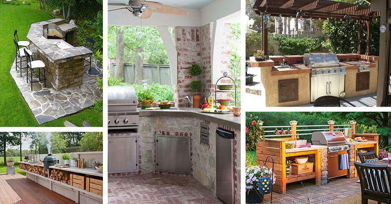 la cocina de exterior