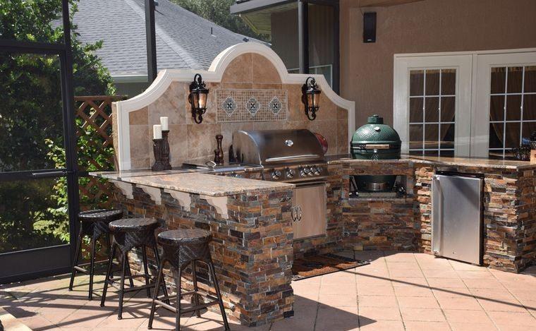 la cocina en patio