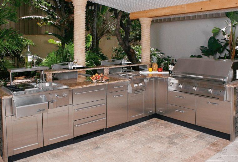 la cocina exterior acero inoxidable