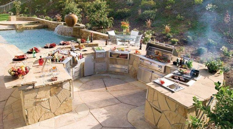 la cocina exterior diseños