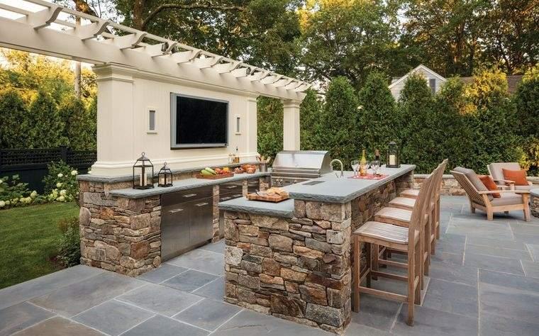 la cocina exterior elegante