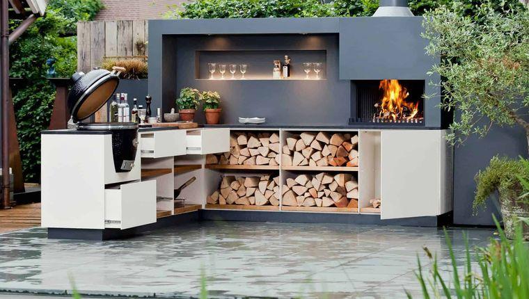 la cocina exterior leña