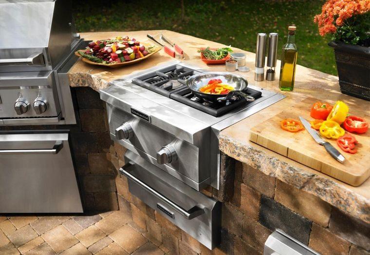 la cocina exterior materiales duraderos