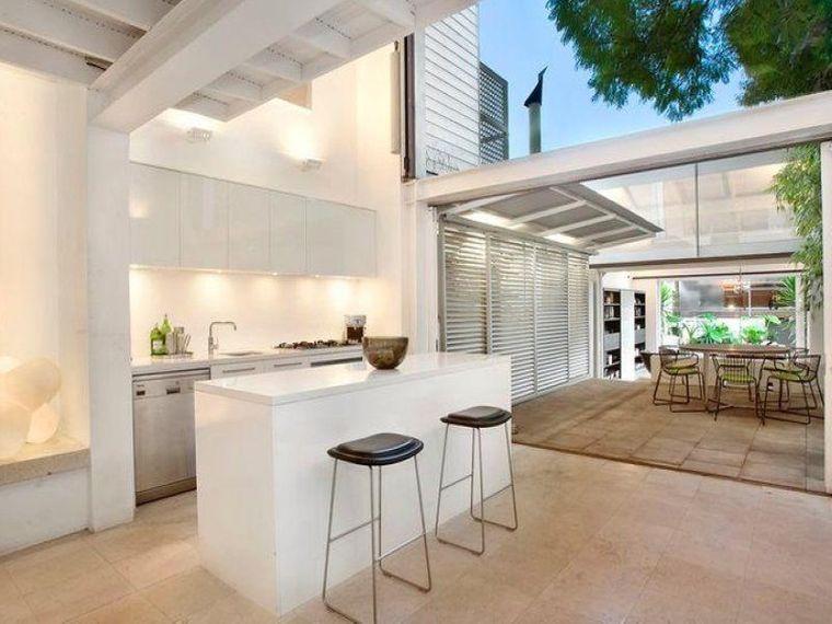 la cocina exterior minimalista