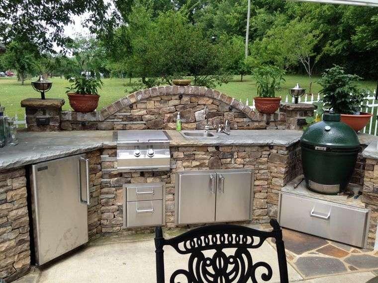 la cocina exterior patio trasero