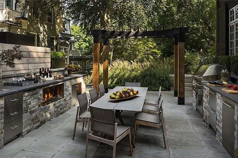 la cocina exterior piedra