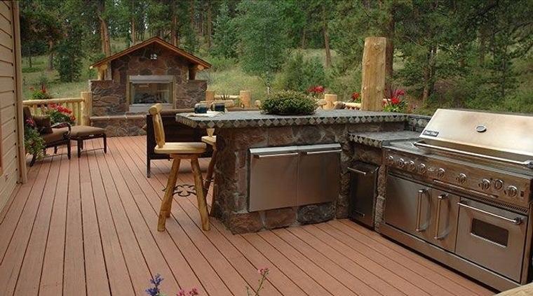 la cocina exterior rustica