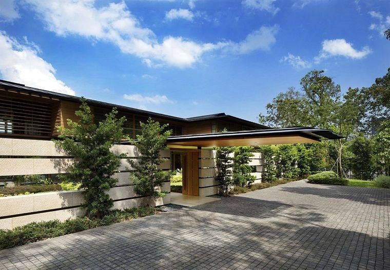 los jardines diseño casa singapur