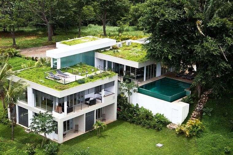 los jardines en techos