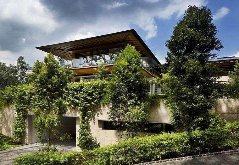 los jardines en terrazas