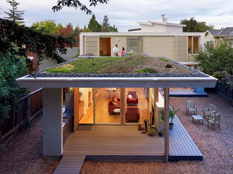 los jardines pequeños en techos