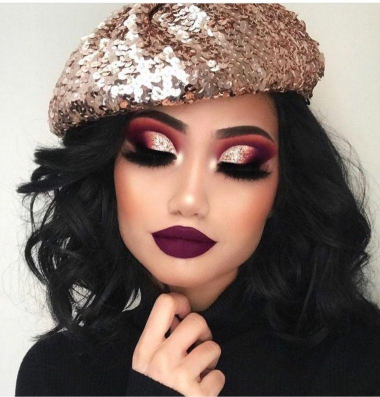 maquillaje-bello-ahumado-mujer-2020