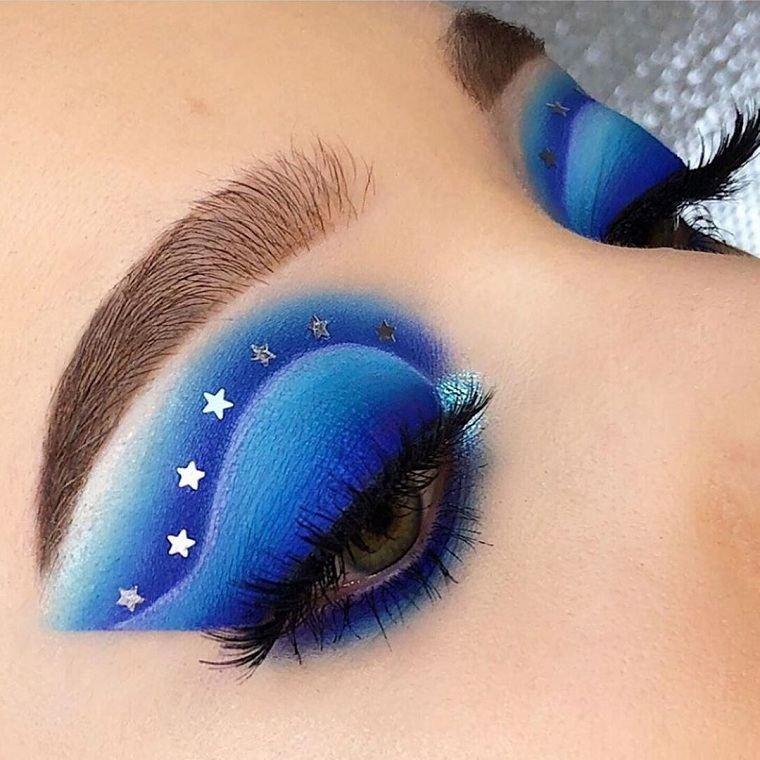maquillaje nochevieja 2020-estilo-color-azul