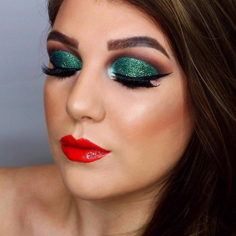 maquillaje-de-nochevieja-2020-ideas-verde