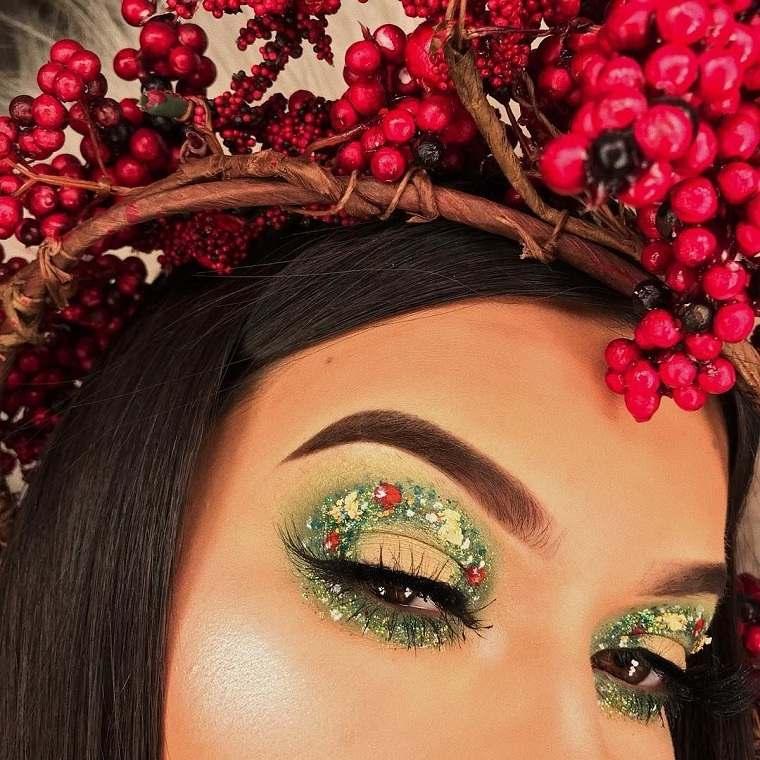 maquillaje-de-nochevieja-2020-verde-brillante-estilo