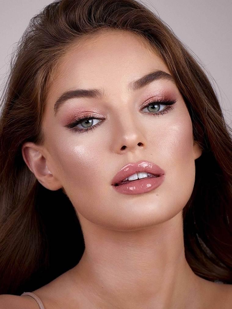 maquillaje-nochevieja-rosa-claro-estilo