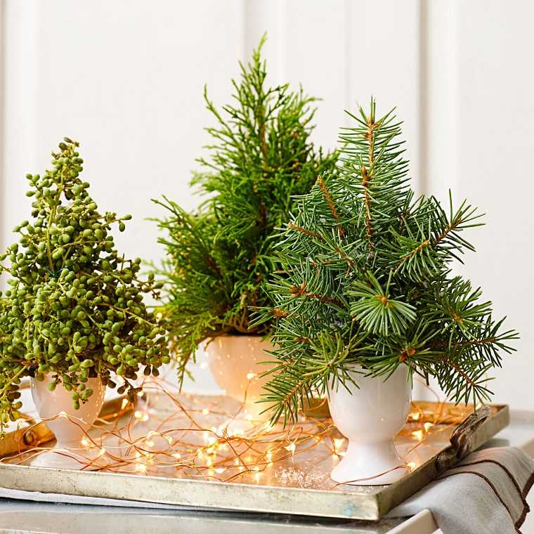 Decoración navideña con árboles pequeños 40 + ideas