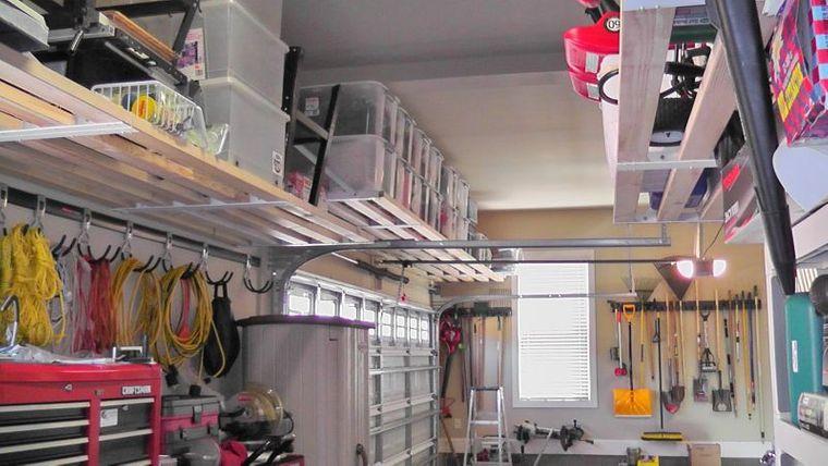 organizar garaje almacenamiento alto