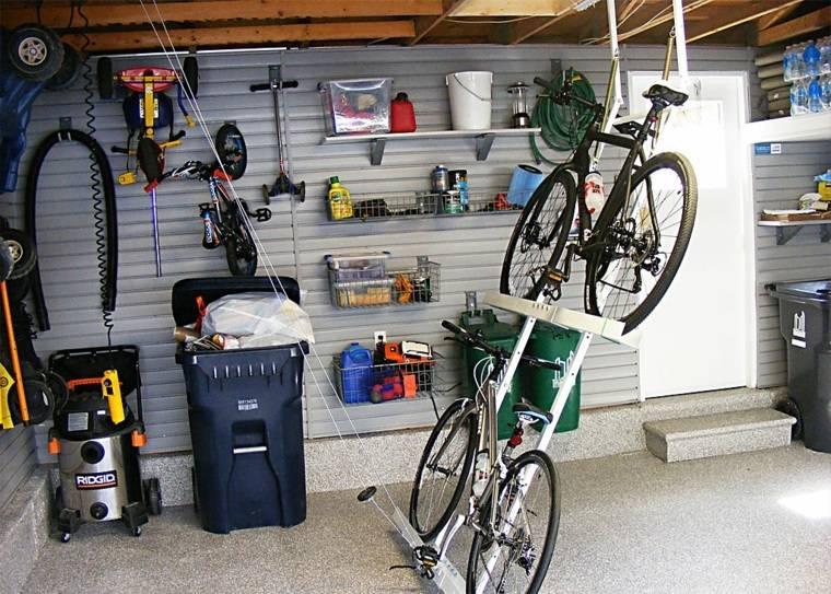 organizar garaje almacenar bicicletas