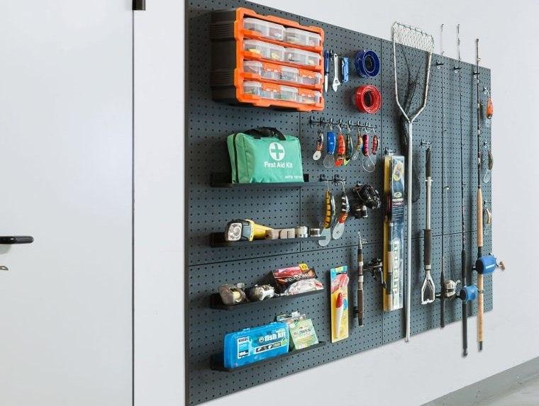 organizar garaje articulos pared