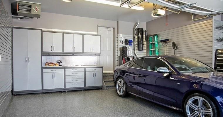 organizar garaje blanco