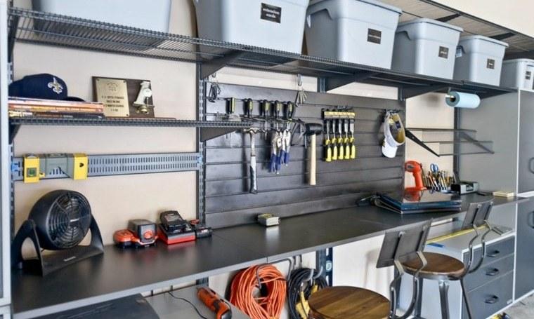 organizar garaje con estacion de trabajo