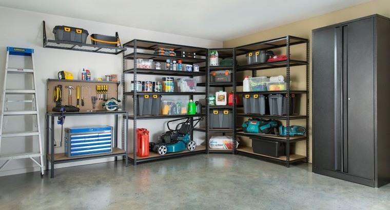 organizar garaje con estanteria