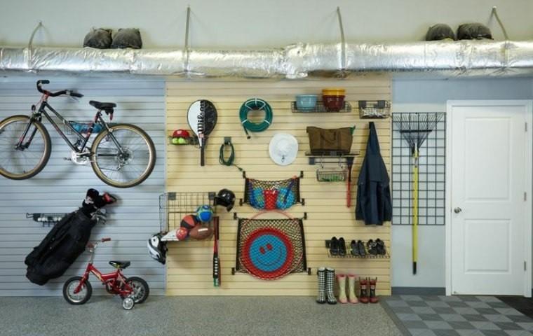 organizar garaje equipo deportivo