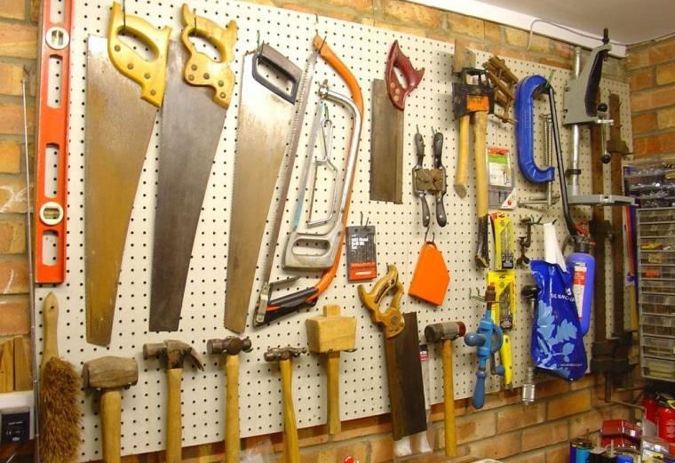 organizar garaje herramientas pared