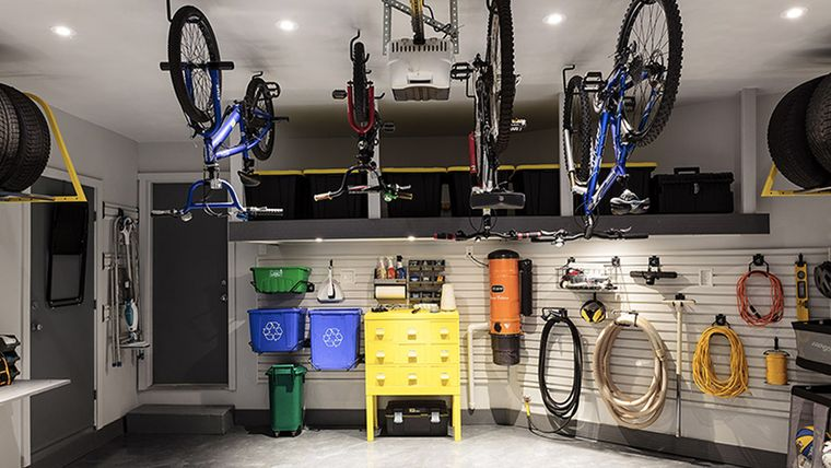 organizar garaje iluminacion