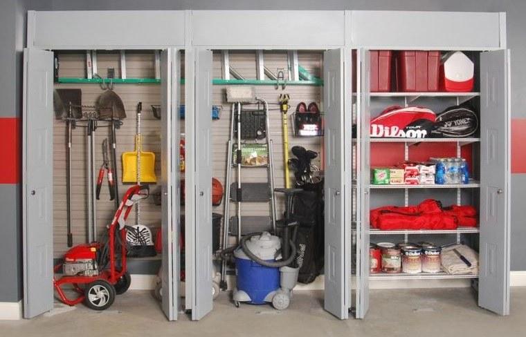 organizar garaje mueble con puerta