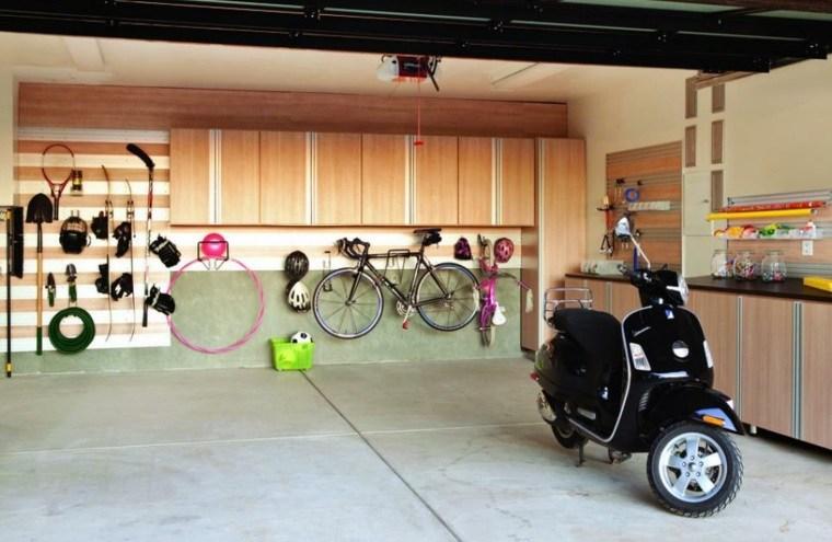 organizar garaje muebles madera