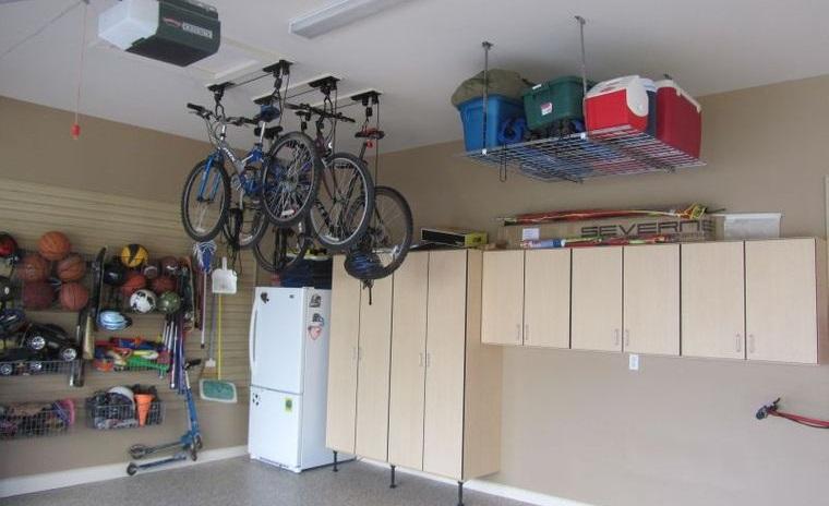 organizar garaje pared techo