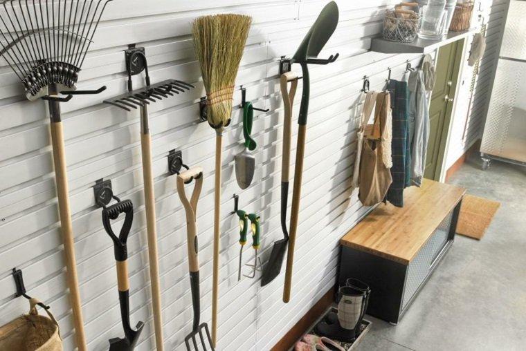 organizar garaje pared