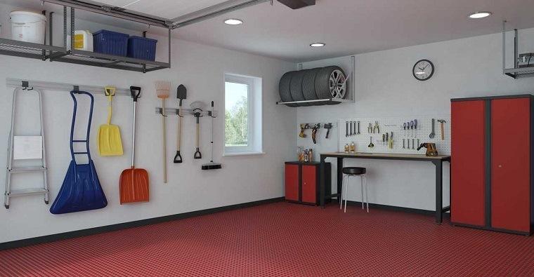 organizar garaje piso antideslizante