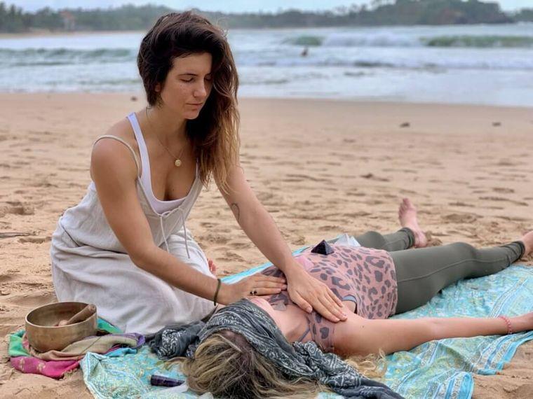 reiki sesion en playa