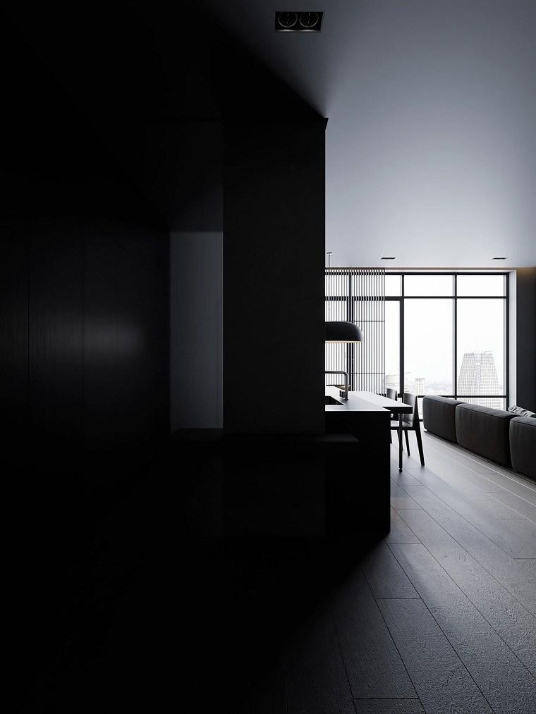 sala-estar-color-gris-estilo-moderno-minimalista-oscura