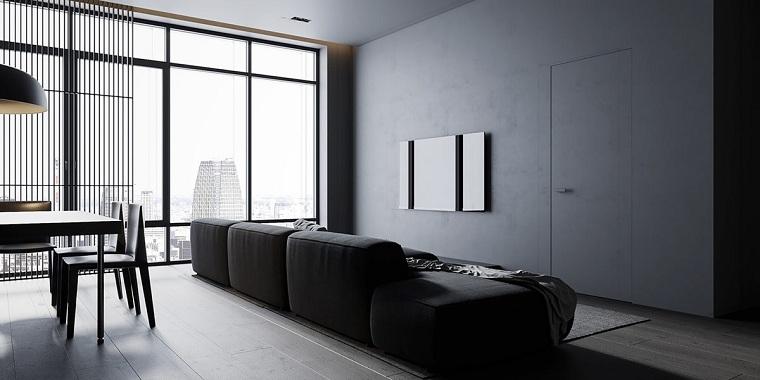 sala-estar-color-gris-estilo-moderno-minimalista