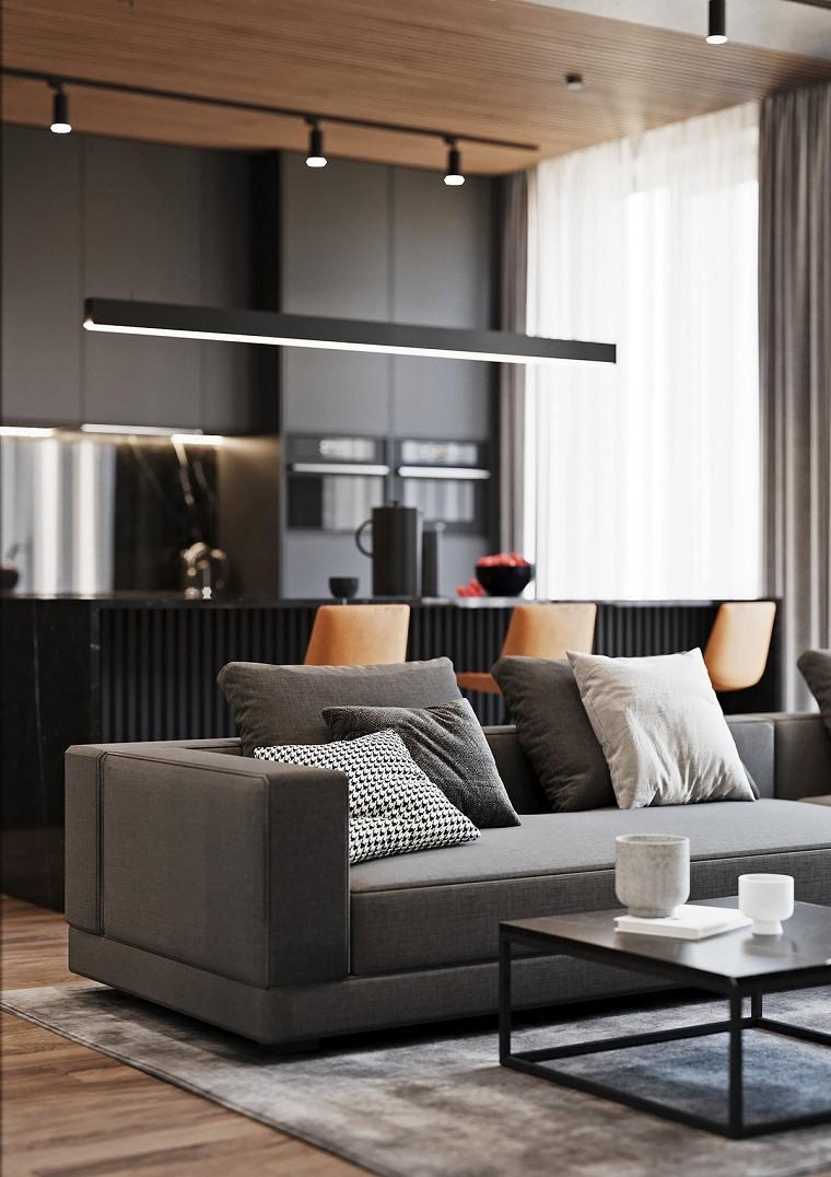 salon-ideas-sofa-gris-cojines