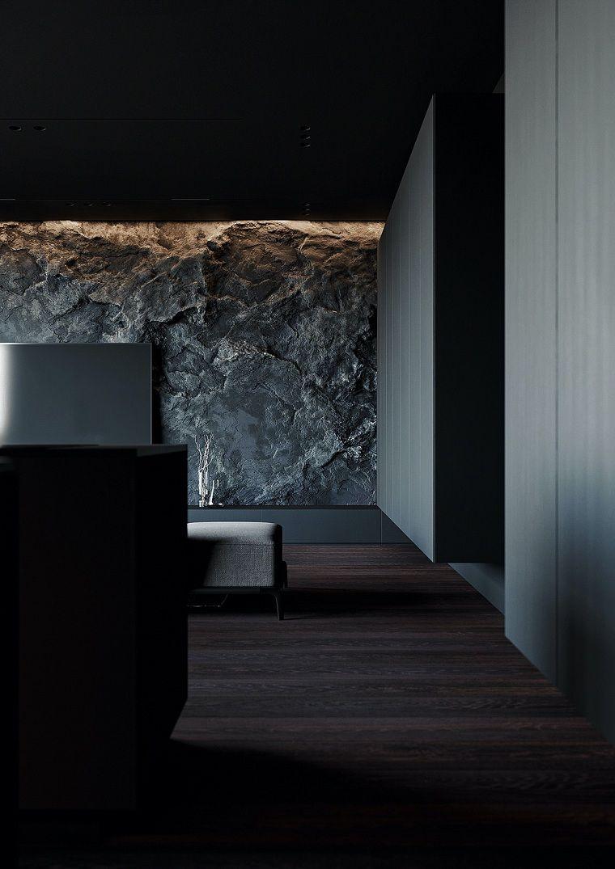 salon-moderno-pared-piedra-ideas