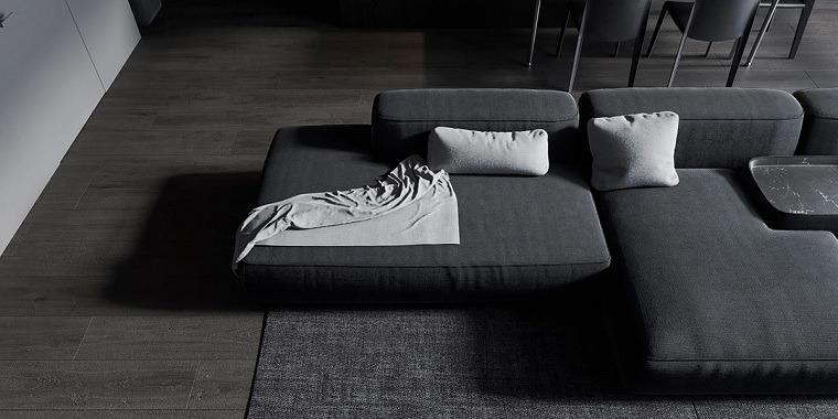salon-negro-gris-sofa-modular-ideas
